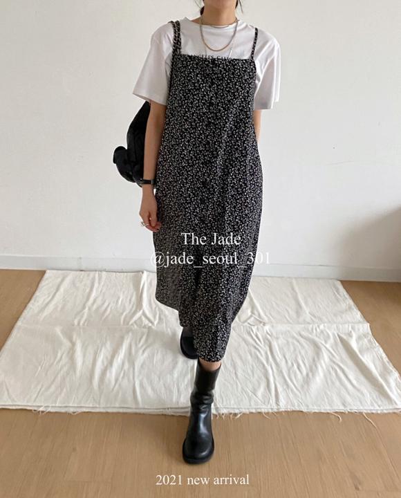 JADE-A-- 女士碎花吊帶時尚連衣裙不含其它&