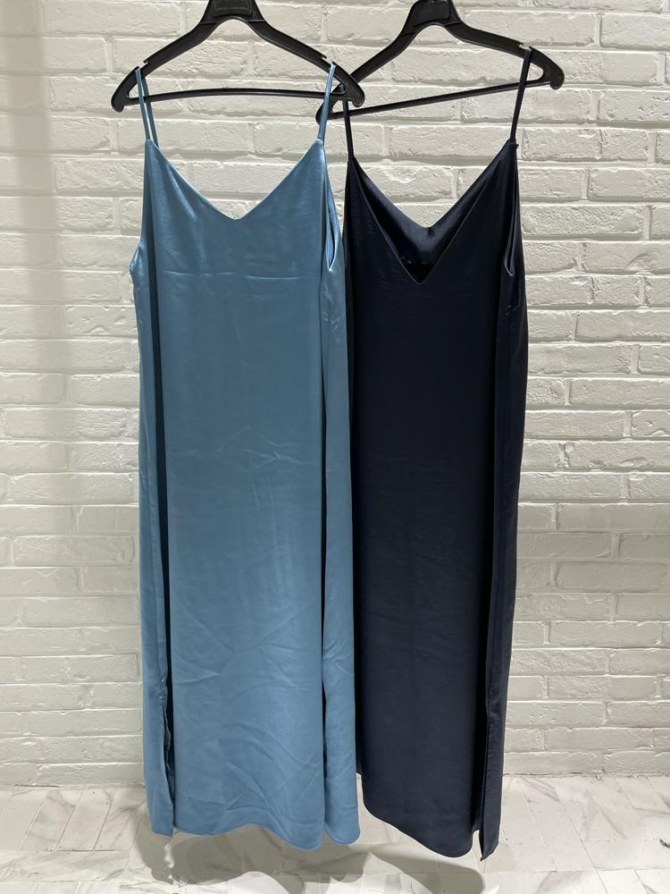 CALM AND COMFORT-- 女士簡潔凈版無袖吊帶連衣裙&