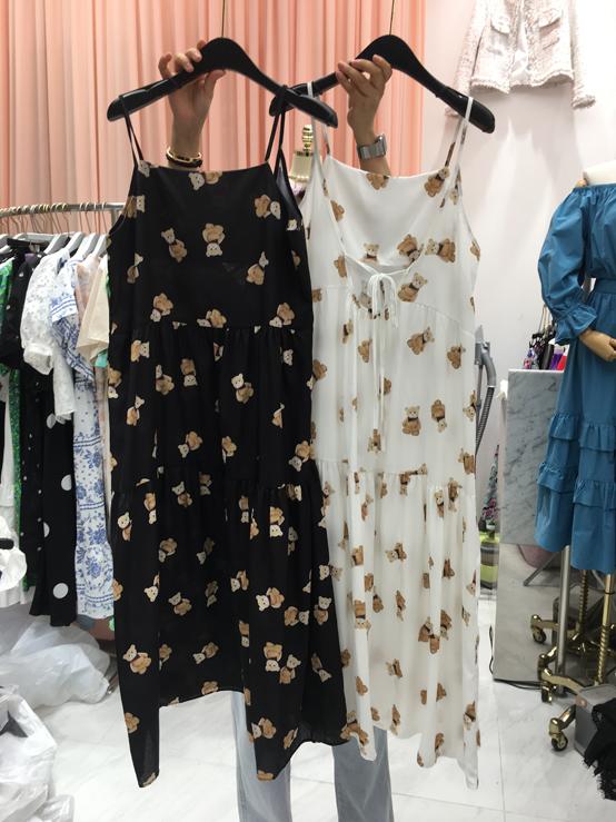 Jaime-- 女士印花吊帶時尚連衣裙正反面