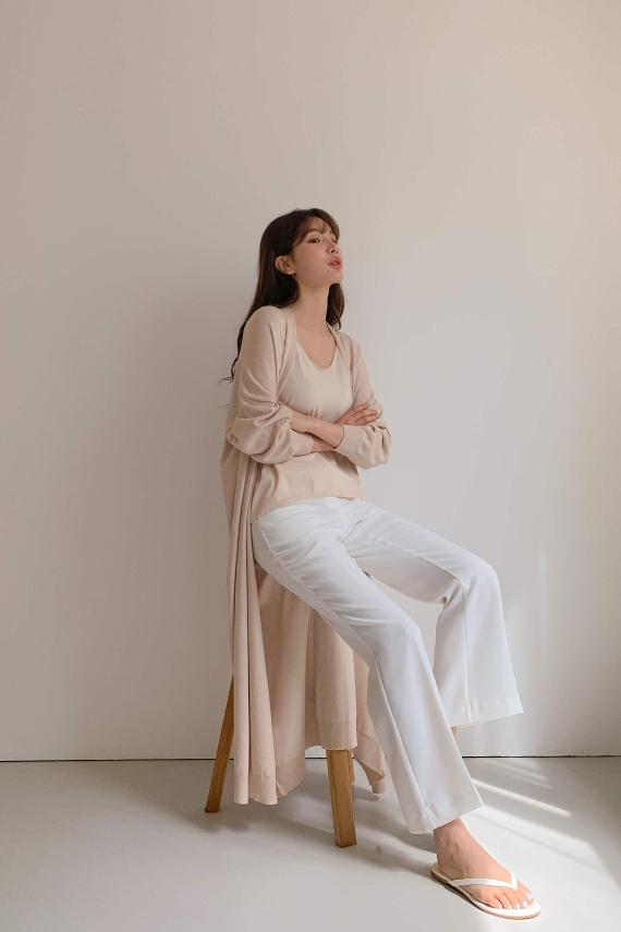 ailla-- 女士長袖休閑針織外套不含其它&