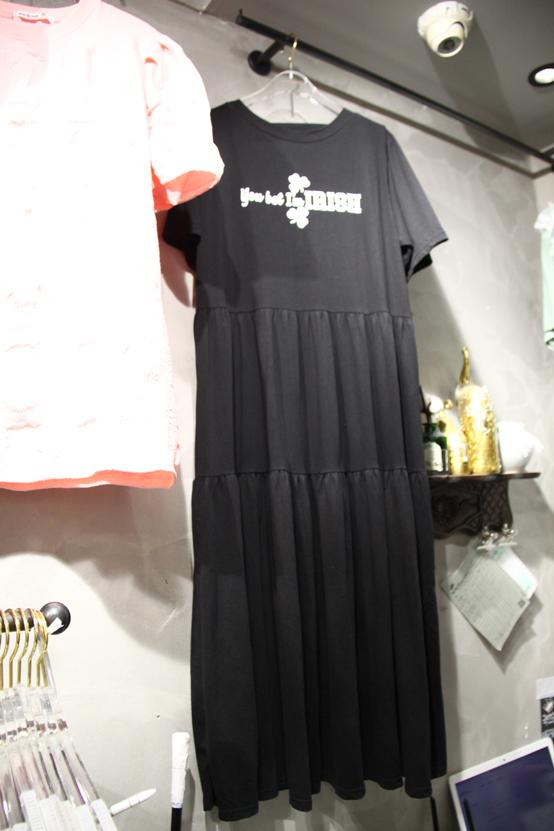 miniqueens-- 女士字母短袖圓領連衣裙