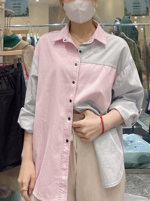 Adorable-U-- 女士翻領長袖時尚襯衣不含其它&