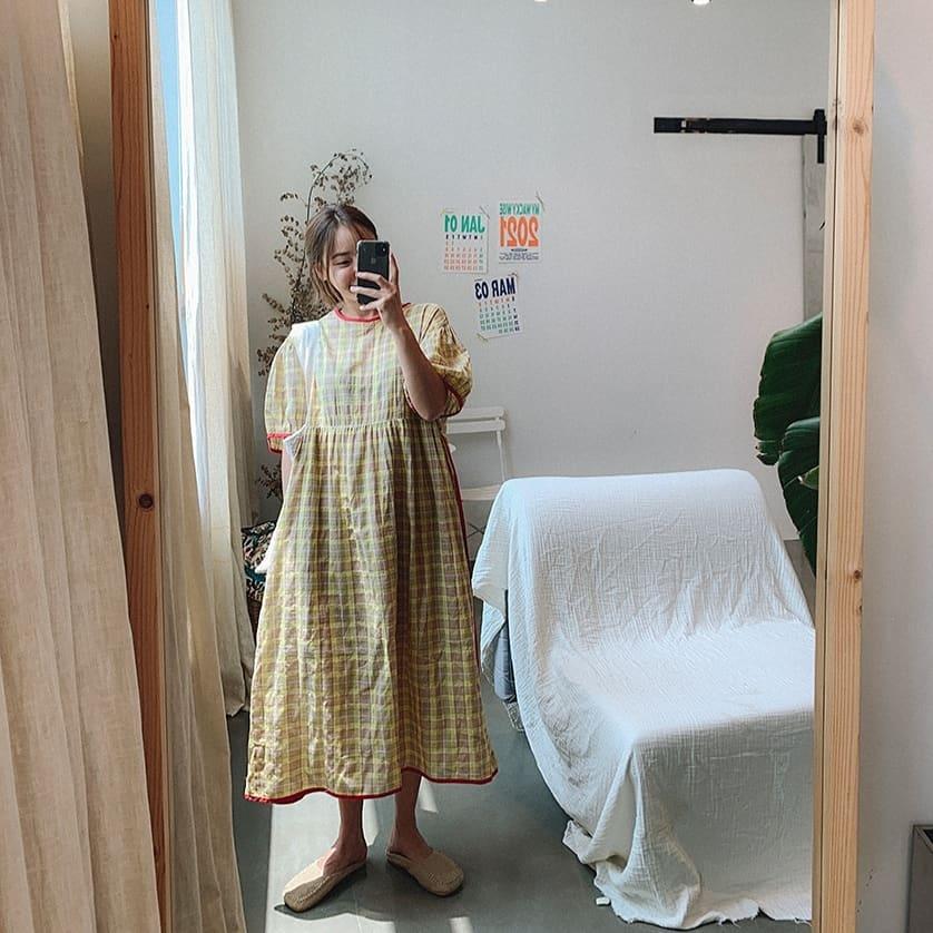 GOOMUNGGAGE-- 女士休閑短袖百搭連衣裙&