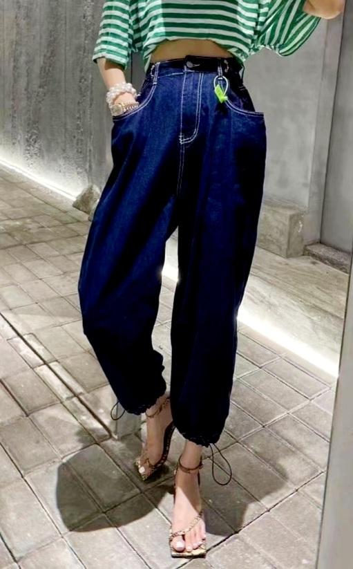 ABITO-- 女士百搭休閑牛仔褲不含其它&