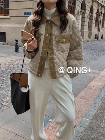 ABITO-- 女士時尚拼接長袖外套不含其它&