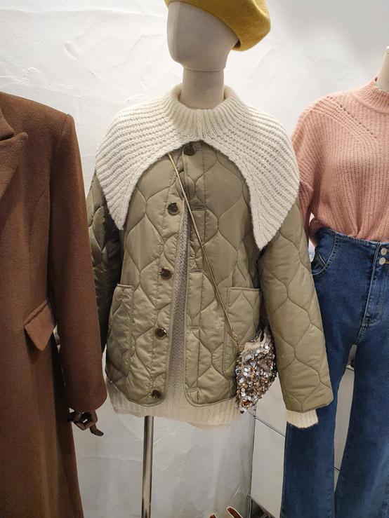 EnVogue-- 女士系扣貼袋長袖棉衣不含其它