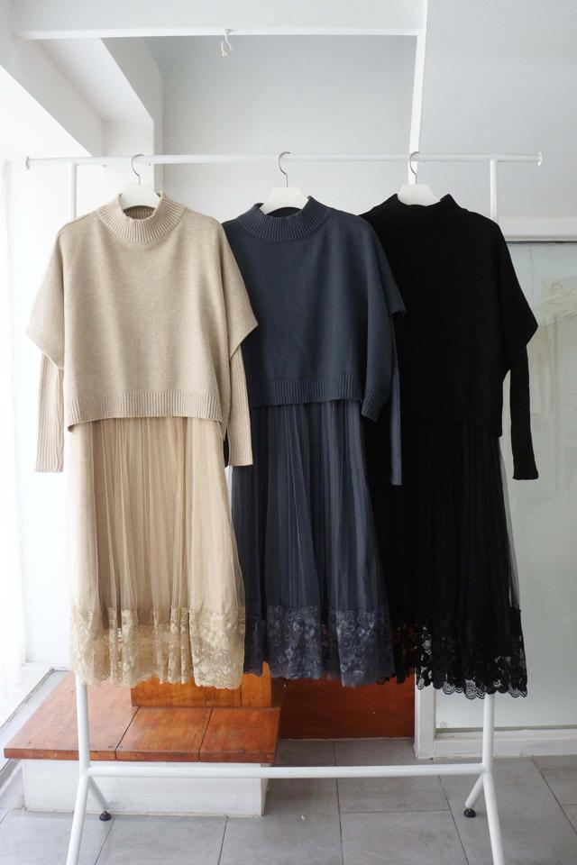 Adorable-U-- 女士百搭時尚連衣裙套裝&