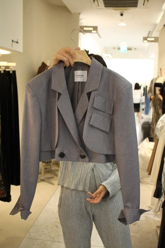 CHARM-- 女士長袖系扣時尚西裝