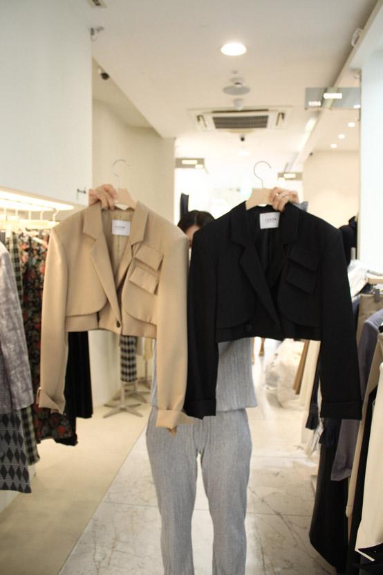 CHARM-- 女士系扣時尚長袖西裝