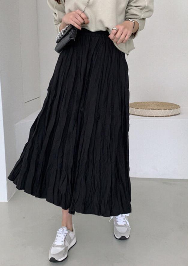 HA EUN-- 女士褶襉百搭超長裙不含其它&