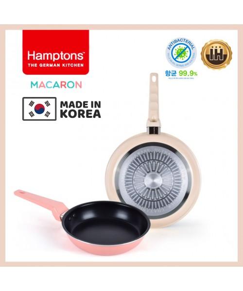 【韓國製】德國Hamptons馬卡龍2件套裝H06 (22cm+28cm平底鍋)(現貨)