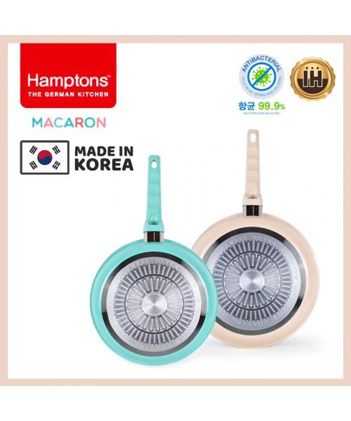 【韓國製】德國Hamptons馬卡龍2件套裝H07 (26cm+28cm平底鍋)(現貨)