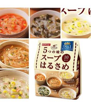 日本 DAISHO 低卡飽腹速食高湯粉絲(雞蛋湯/韓式鍋湯/擔擔味/裙帶菜/雜燴)(10包入)