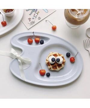 Nineware Pastel Picasso Tray 畢卡索調色分隔餐盤 (粉藍色)