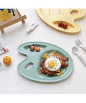 Nineware Pastel Picasso Tray 畢卡索調色分隔餐盤 (簿荷綠色)
