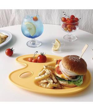 Nineware Pastel Picasso Tray 畢卡索調色分隔餐盤 (黃色)
