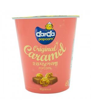 韓國 Darda 焦糖味粉紅色桶裝爆谷 42g
