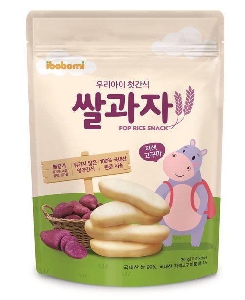 韓國IBOBOMI有機嬰兒米餅原味30g (6個月以上BB適用)