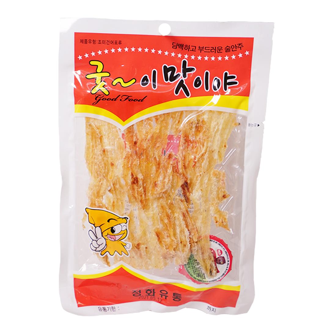 韓國 Jeongwha 香烤牛魚鰍魚乾(附紅辣椒醬) 550g