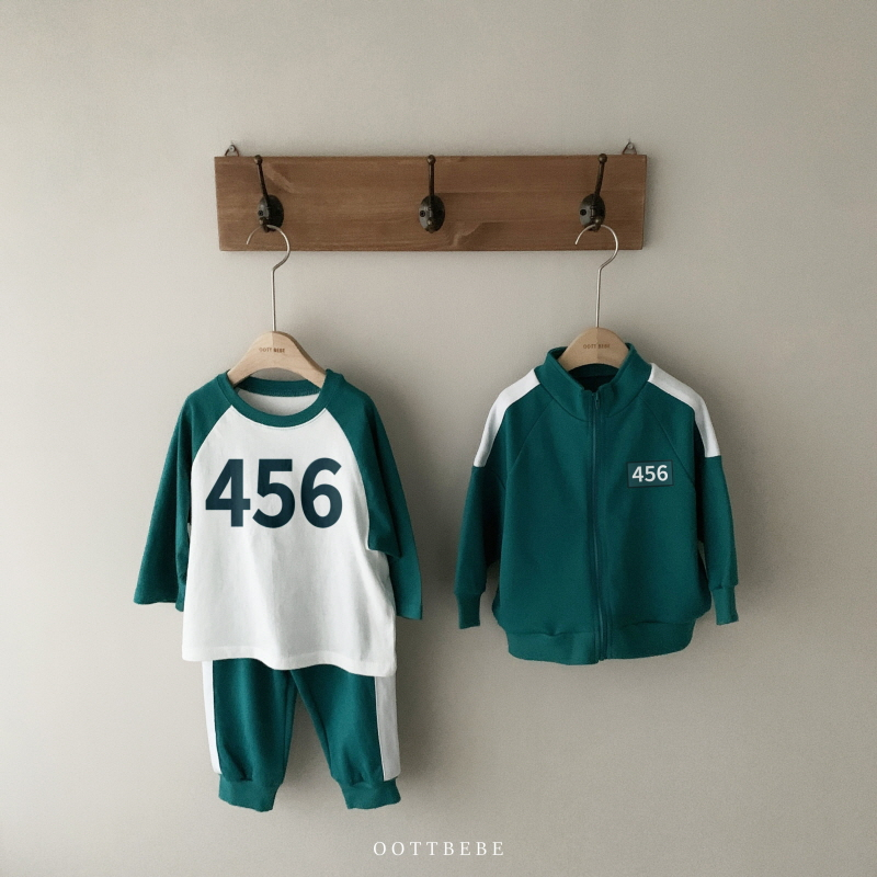 oottbebe - 魷魚游戲服裝【參加者456上衣T恤】(JS-JL尺碼)