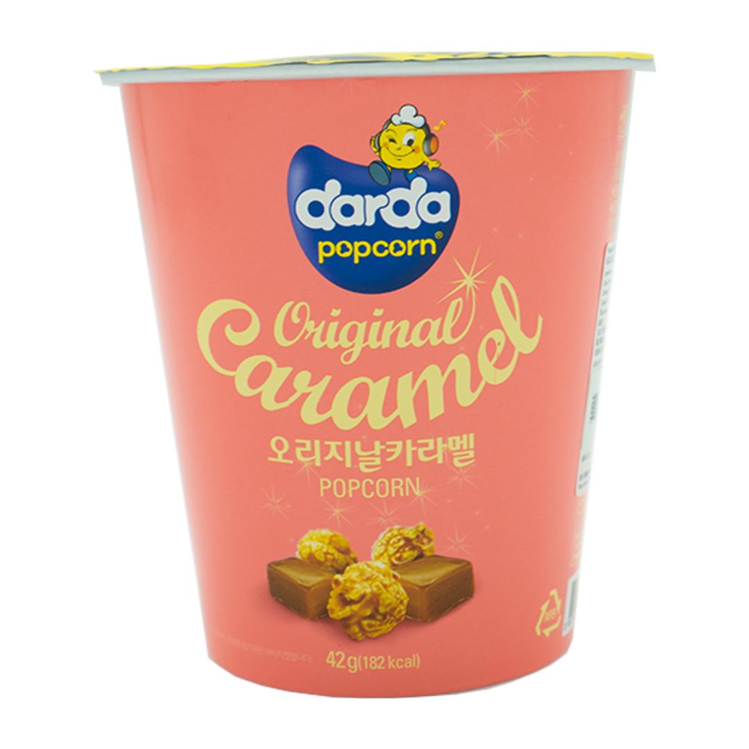 韓國 Darda 焦糖味粉紅色桶裝爆谷 42g (5包優惠價) 【購物淨額滿HK$500即送1包, 只限香港】